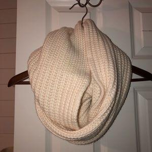 JCrew Ivory Knit Infinity Scarf - NWOT